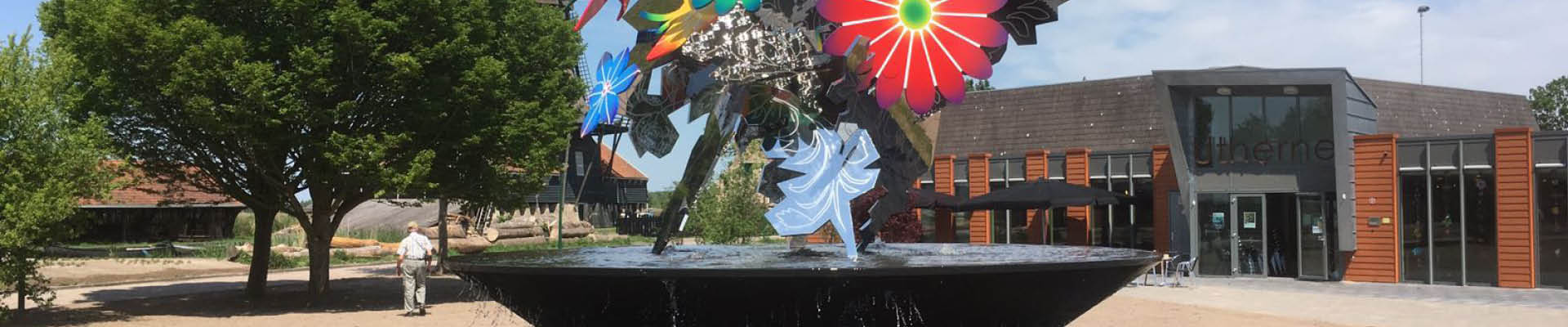 artistieke fontein in friesland