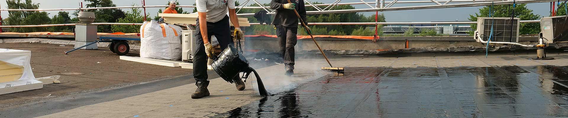 dakbedekking bestendig tegen neerslag met zetmeel