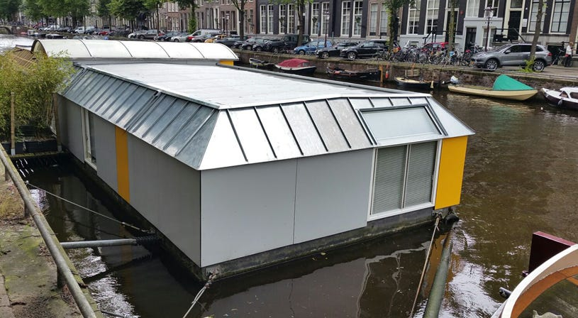 Grijze EPDM van Royal NovoProof® voor woonboot Amsterdam | Soprema